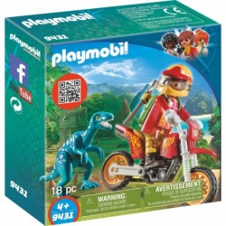 Playmobil Motocross-Bike mit Raptor